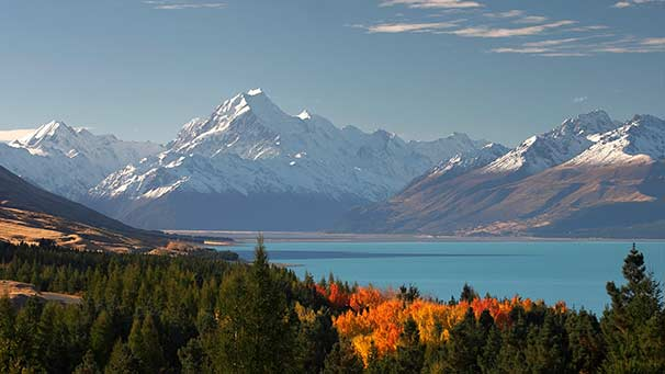 View of Aoraki Mount Cook and Lake Pukaki